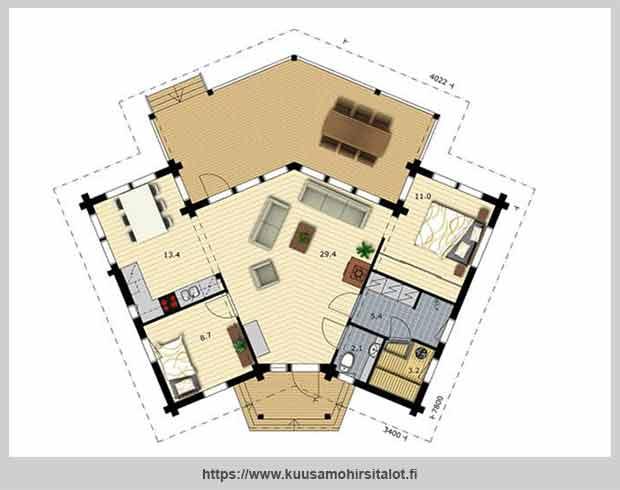 планировка дома nuuna