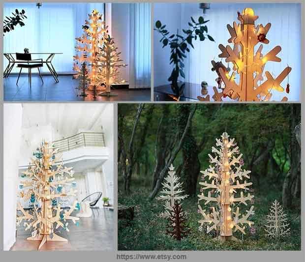 елка из фанеры