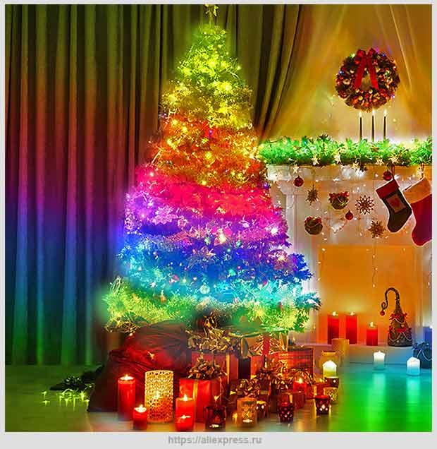 умная новогодняя елка