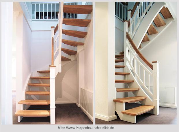 компактная лестница с поворотом