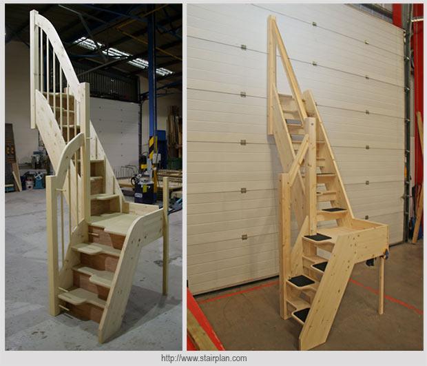 лестница поворотная с утиным шагом