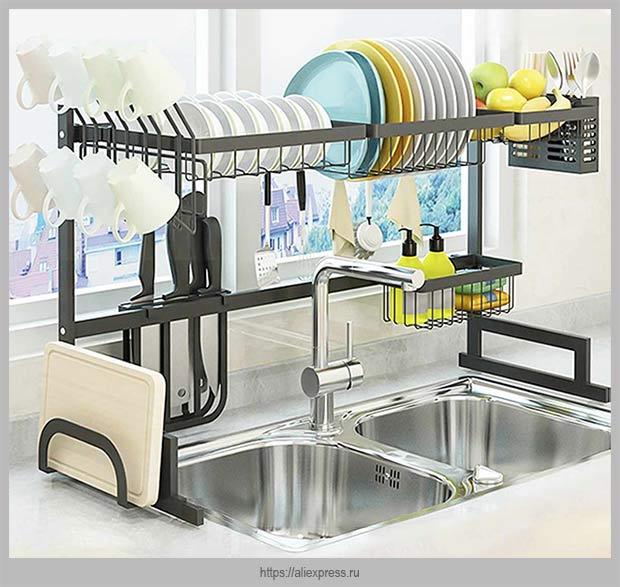 сушилка для посуды над мойкой