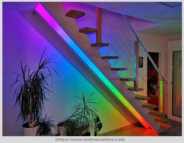 подсветка в стиле радуги