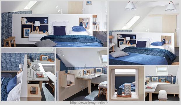 мансарда со спальней и кабинетом