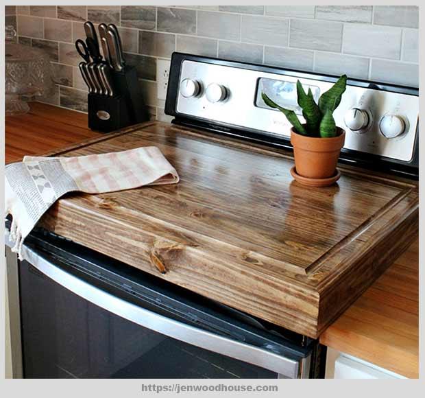 деревянная крышка для варочной панели
