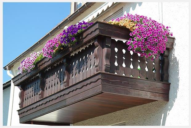 контейнеры для цветов на балконе