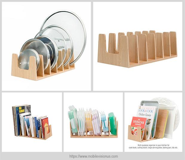 стильный органайзер для хранения крышек