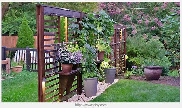 садовая декоративная решетка