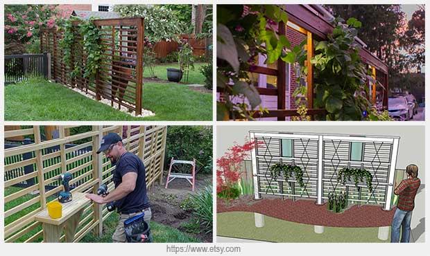 садовая деревянная решетка