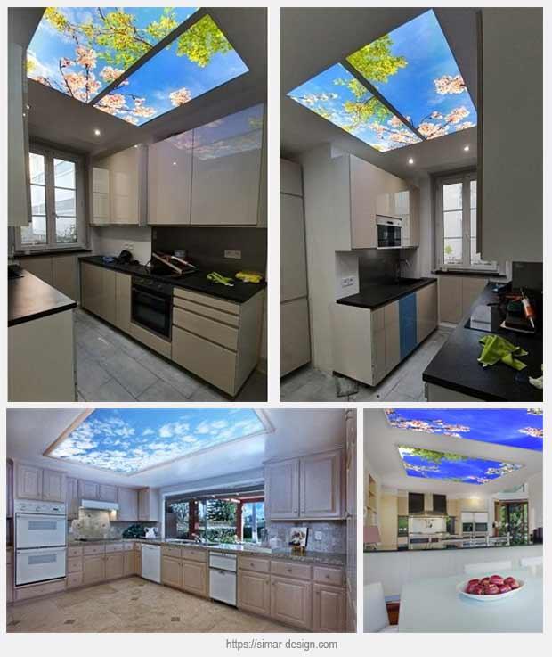 светодиодная панель на кухне