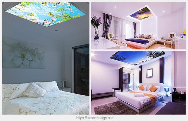 светодиодная панель в спальне
