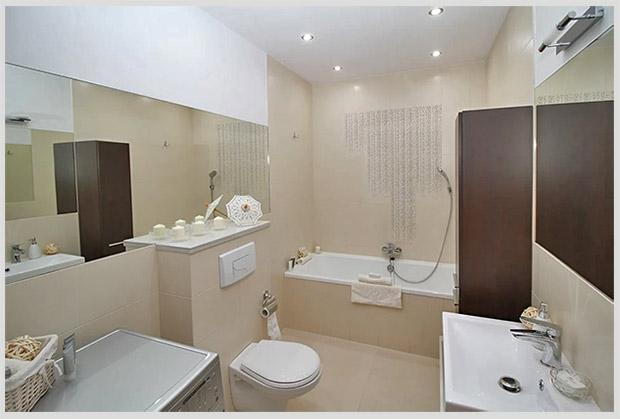 потолки в ванной комнате