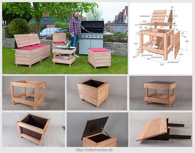 модульная садовая мебель