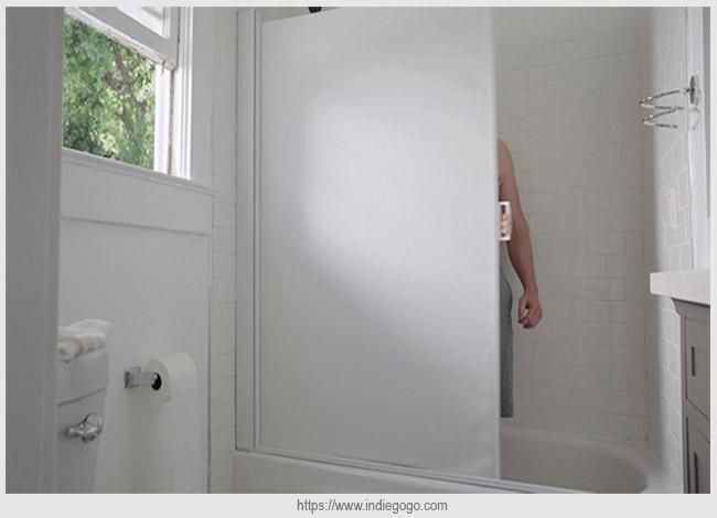выдвижная шторка для ванной