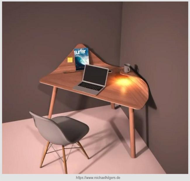столик с завернутыми углами