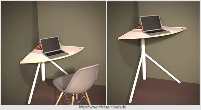 подъемный угловой столик