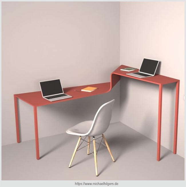 столик с разноуровневыми столешницами