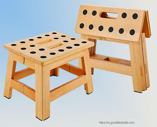 складной деревянный табурет