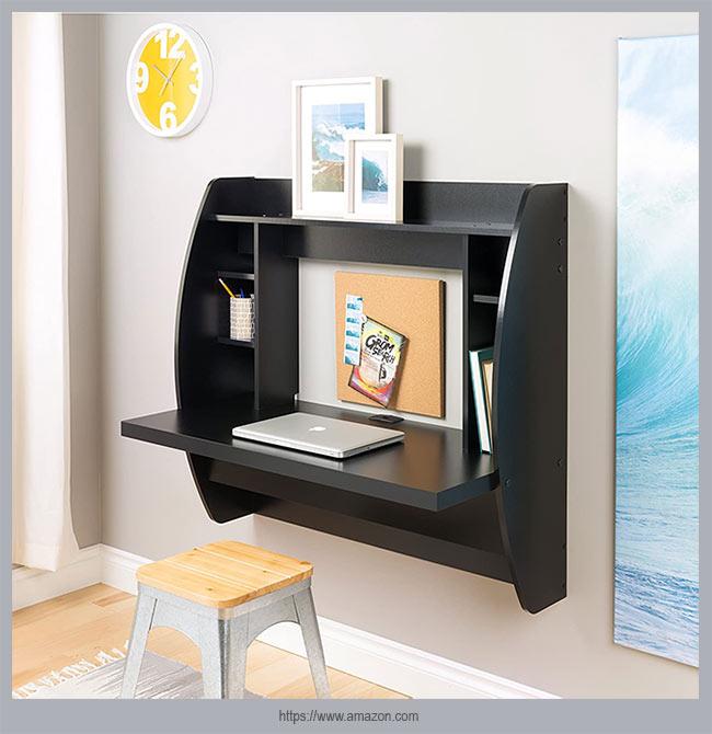 настенный стол в черном стиле