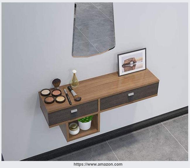 простой настенный стол с выдвижными ящиками