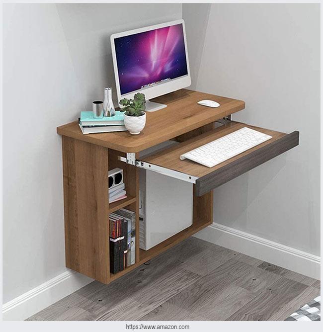 Настенный стол с дополнительной выдвижной столешницей