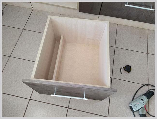 сборка кухонного ящика
