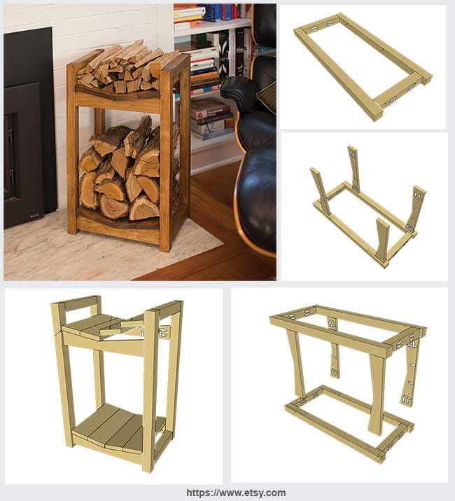деревянная дровница